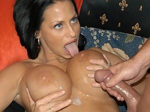 Cum on MILF Tits Porn Pics